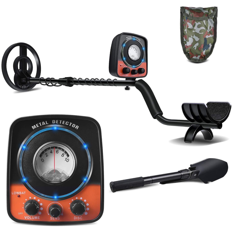UNIROI Detector de Metales, 2 Modos de Busca, Pantalla LCD, Modo de Sonido, Bobina de Búsqueda Sensible, Impermeable y Fácil de Uso para Profesionales ...