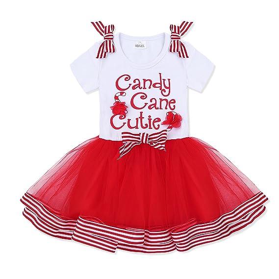 Freebily Vestido Navidad de Niñas Disfraz Princesa Elegante ...