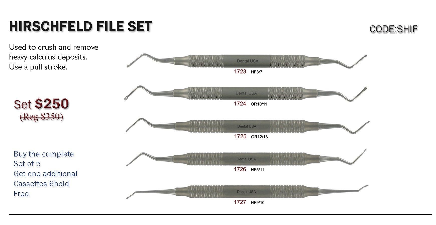 Dental USA-Hirschfeld File Set Code-SHIF