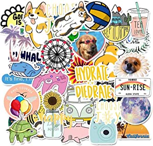 Stickers for Water Bottles,| Big 50-Pack|Cute,Aesthetic,Trendy Stickers for Teens,Girls,Perfect for Laptop