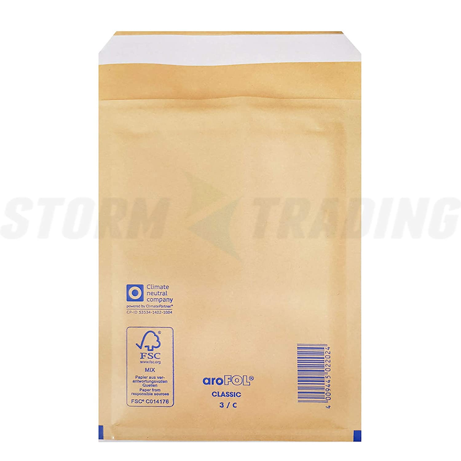 100 x Gold Padded Bubble Lined Arofol 270x360mm Size 8 Quality Envelopes
