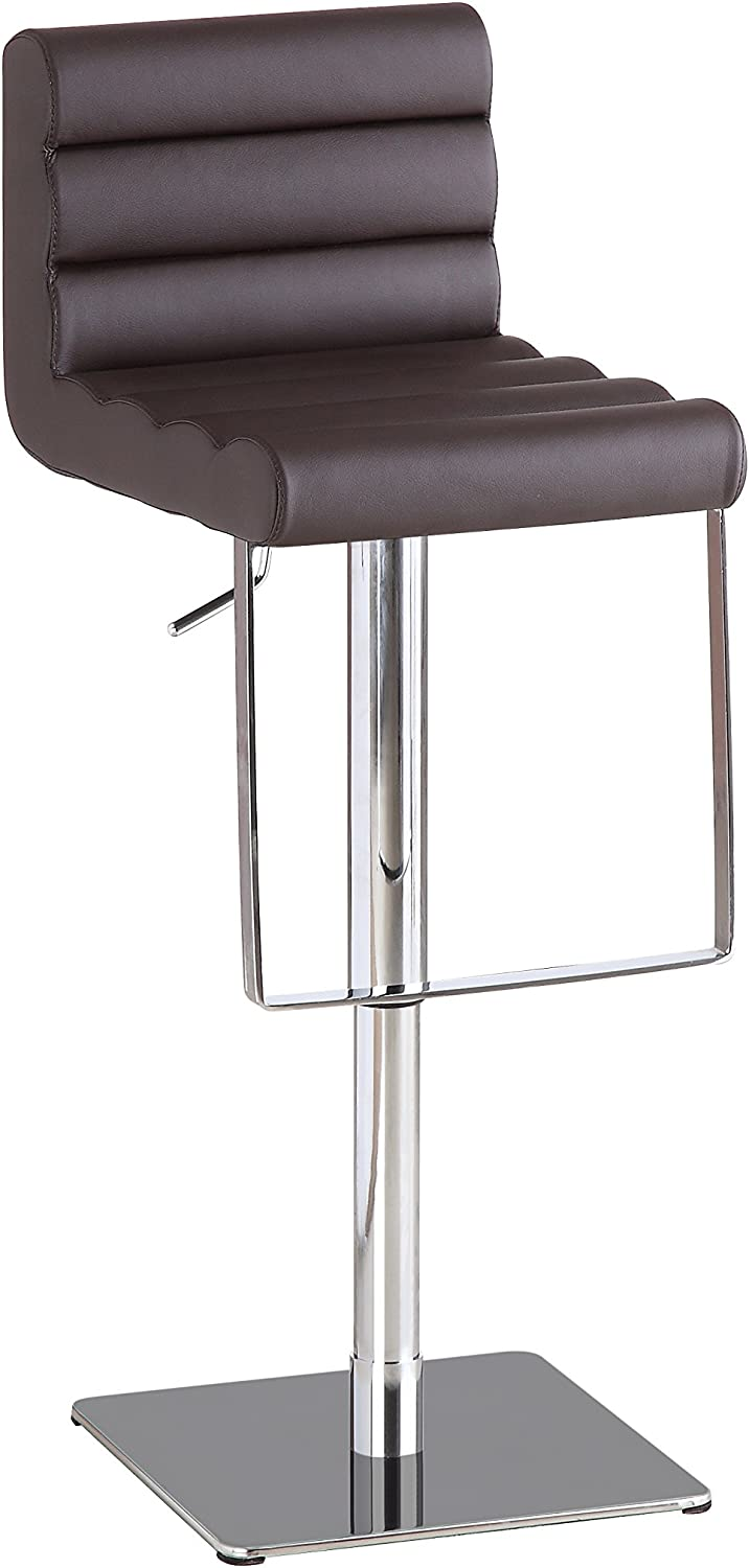 J and M Furniture C192-3 Swivel Barstool, Brown
