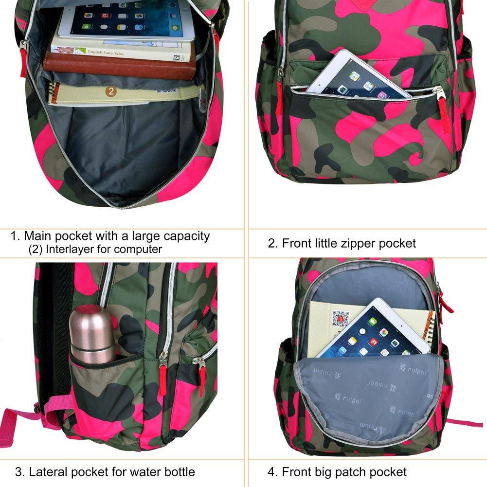 Vbiger School Backpacks Laptop Backpack 14 Inch Waterproof for Kids Earth Map