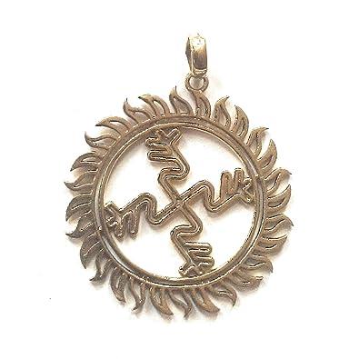 Buy Silver Shine Star Beautiful Gold Plated Hindu Om Brass