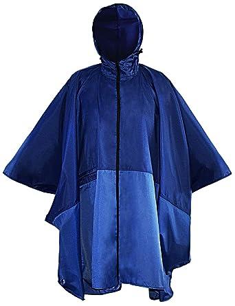 2badc64e2e919 Navis Marine Rain Poncho Men Women Waterproof Raincoat Durable Nylon Ripstop  Rain Jacket with Hooded Zipper