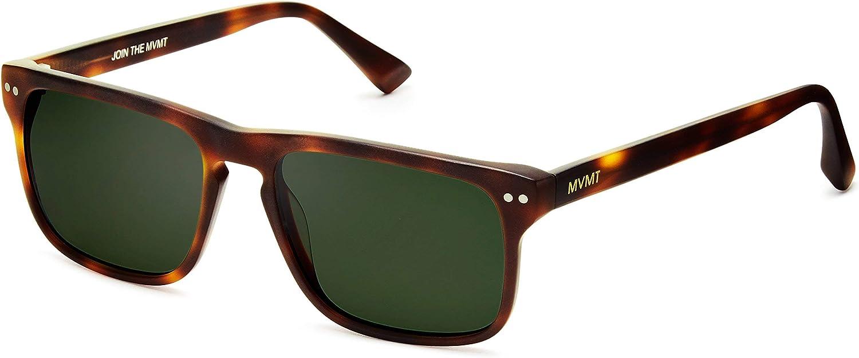 MVMT Reveler | Polarized Rectangular Men's Sunglasses | 57 mm