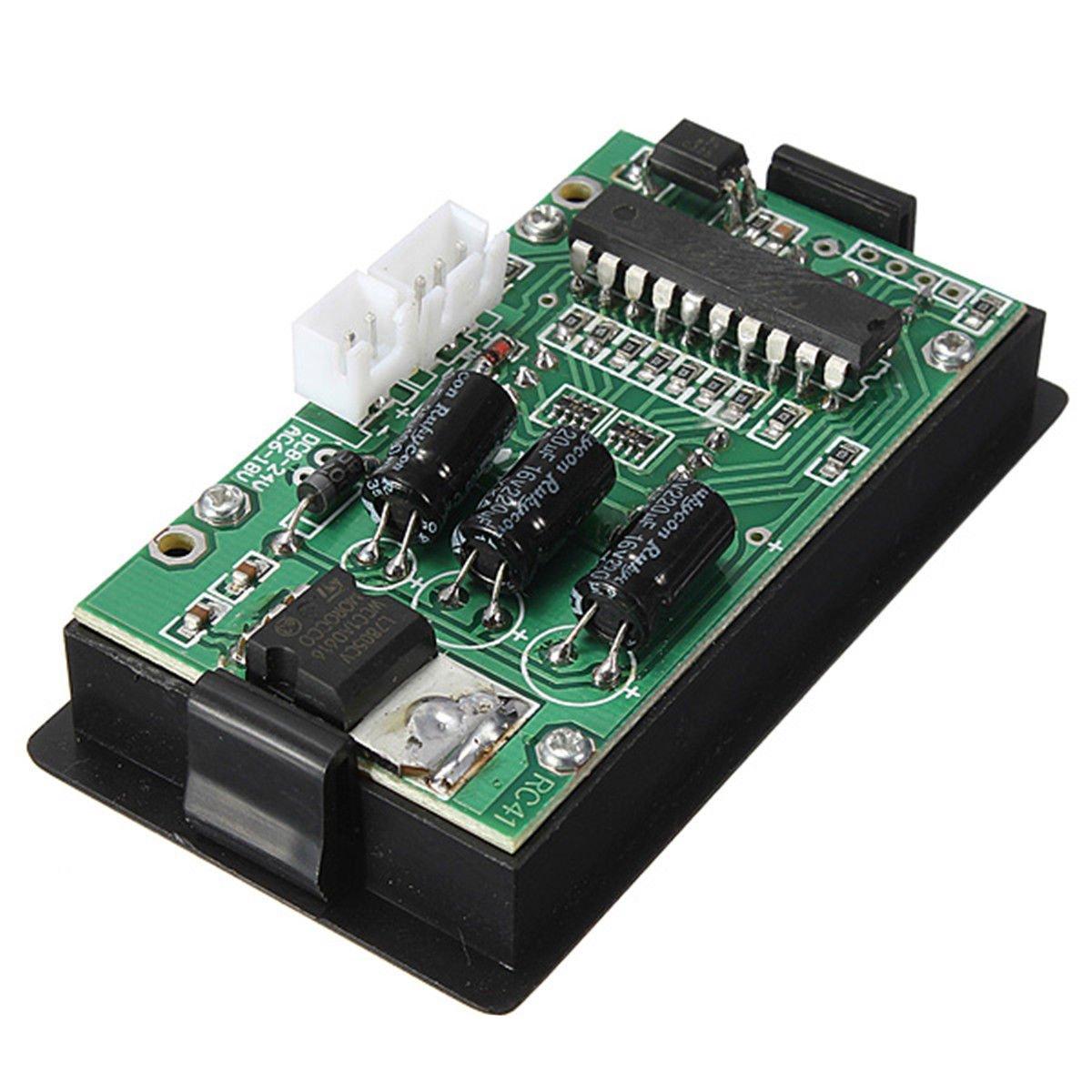 Tacometro - SODIAL(R)LED 4 Digital Tacometro Medidor velocidad RPM Rojo + NPN Sensor interruptor de proximidad de salon