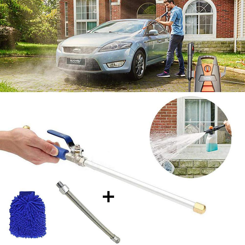Water Jet High Pressure Power Washer Magic High Pressure Wand Perfect for Washing Cars, Watering Garden & Lawns, Patio's, Sidewalks, Siding and Garage