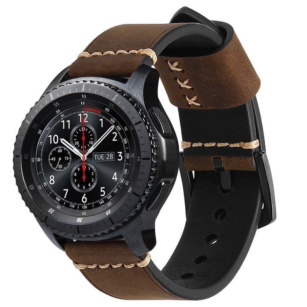 本革時計バンドストラップfor Samsung Gear s3クラシック/ s3 Frontier  B0792VWYL9