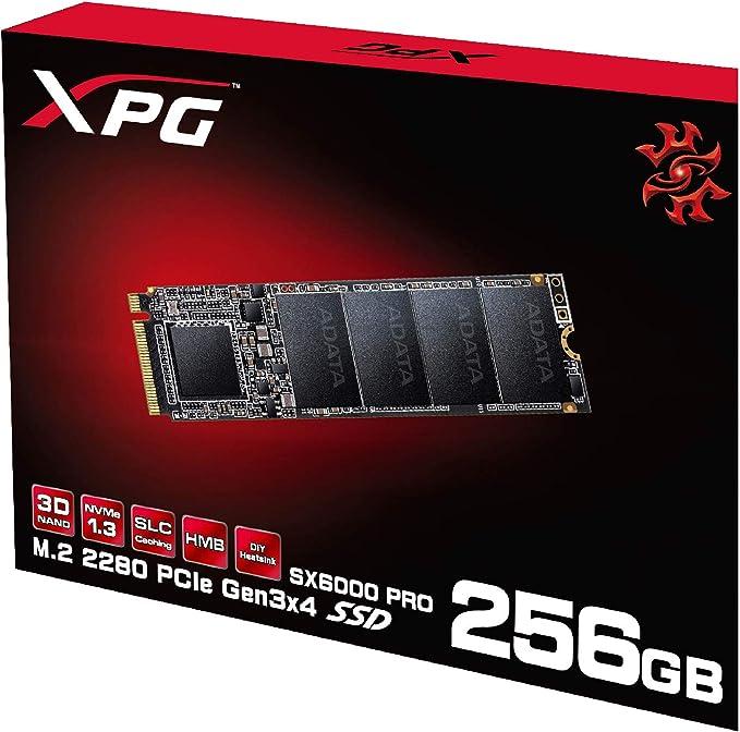 Adata Sx6000 Pro M 2 Nvme 256gb Pcie Gen3x4 Computers Accessories