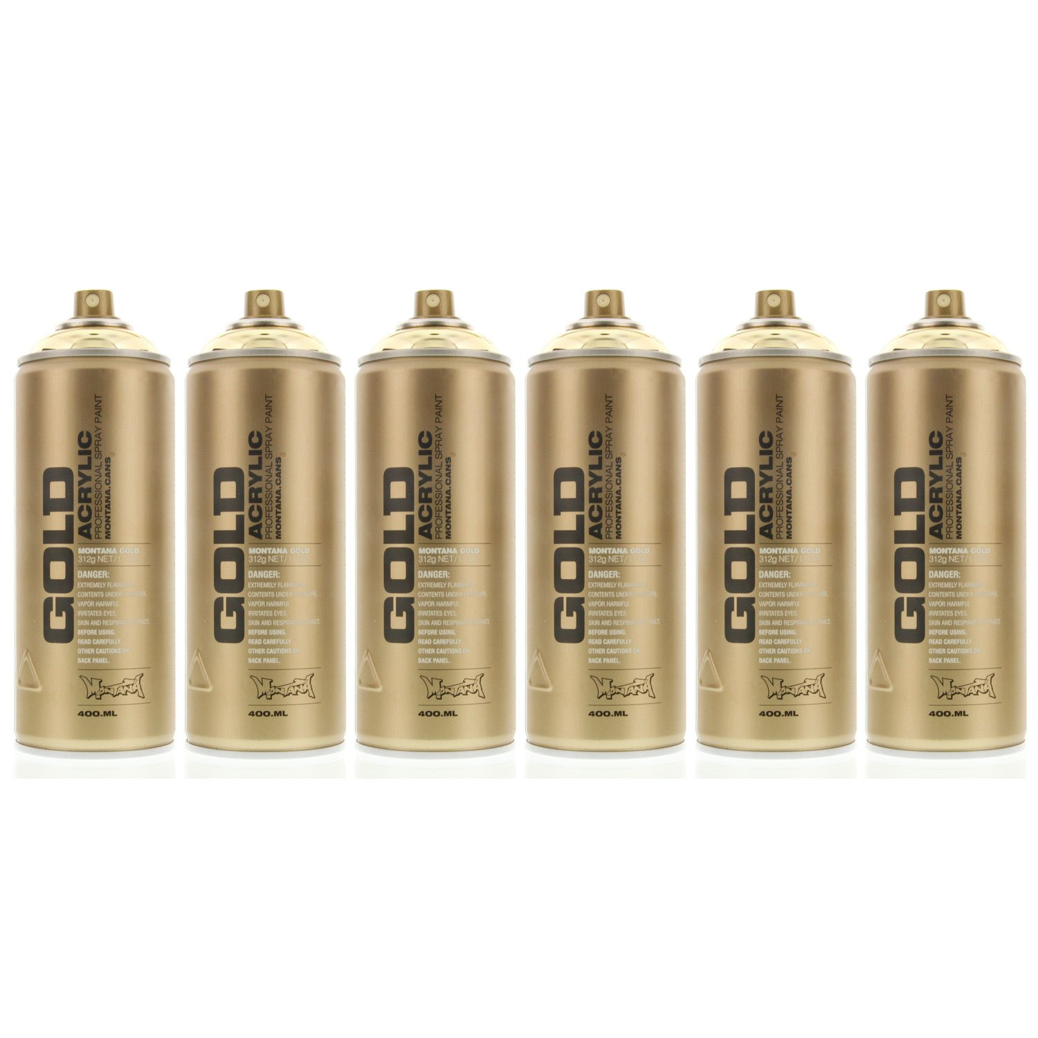 montana gold acrylic spray paint gold chrome pack of 6 cans ebay. Black Bedroom Furniture Sets. Home Design Ideas