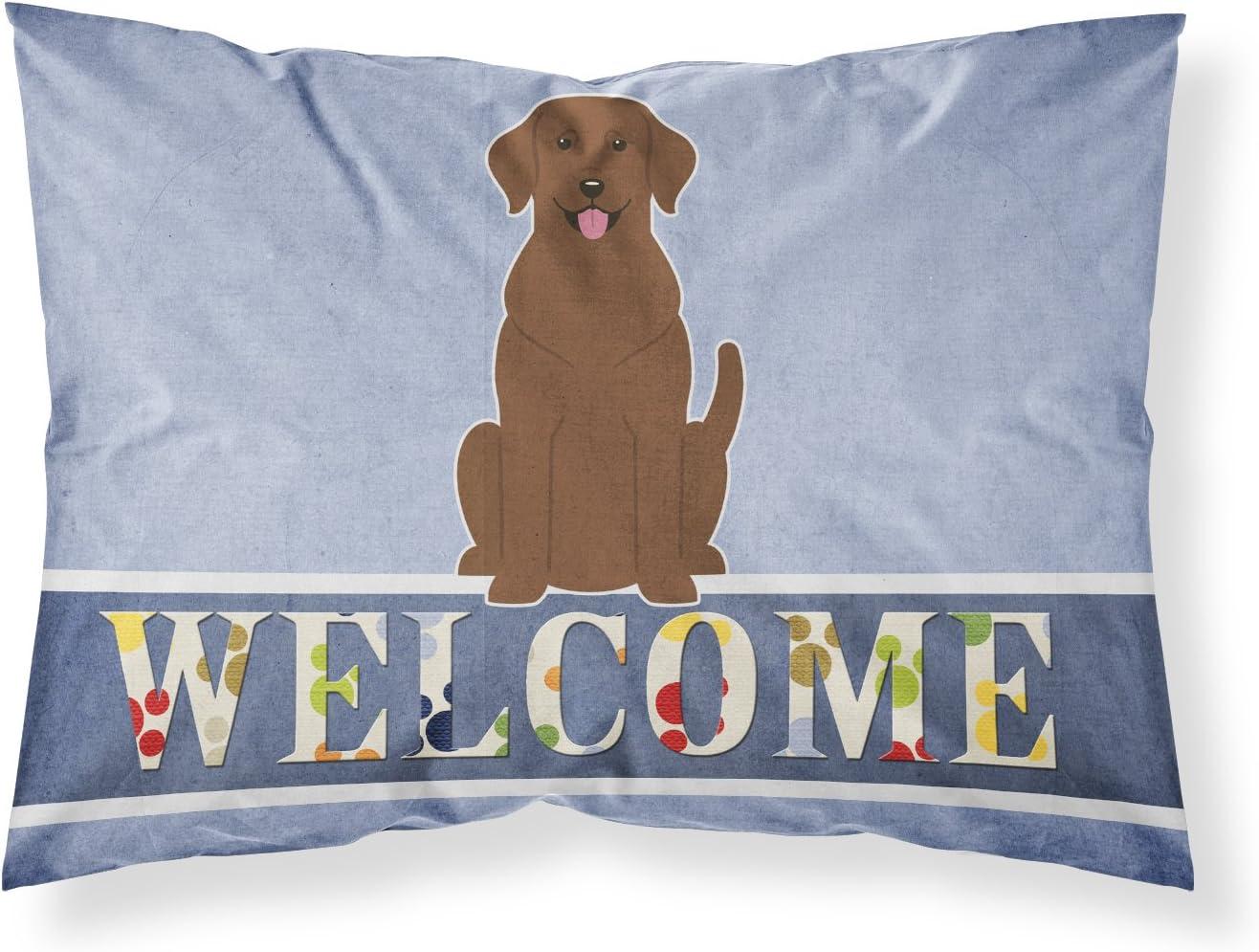 Carolines Treasures Yellow Labrador Welcome Pillowcase Standard Multicolor