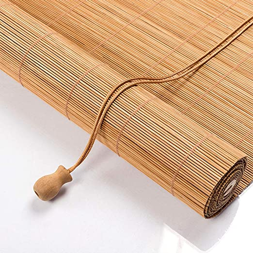 Persianas De Bambú Natural,Cortina Privacidad para Interiores,Aislamiento Térmico/Transpirable,Estores Romana para Patio,Control De Temperatura,70x100cm/28x39in: Amazon.es: Hogar