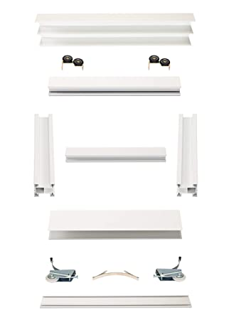 Schiebet/ürbausatz inkl Aluminium Rahmentyp A Inkl Fl/ügelma/ße: 1068 x 2750 mm Beschl/äge f/ür 3 T/üren F/üllung kommt von Ihnen max Boden- und Deckenschiene in 3000 mm