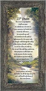 Crossroads Home Décor 23rd Psalm, Bible Verse from Psalm, 7731BW
