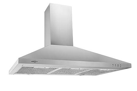 36 inch wall mount range hood tall ceiling ancona rapido iii pyramid 600 cfm wall mount range hood 36inch amazoncom hood