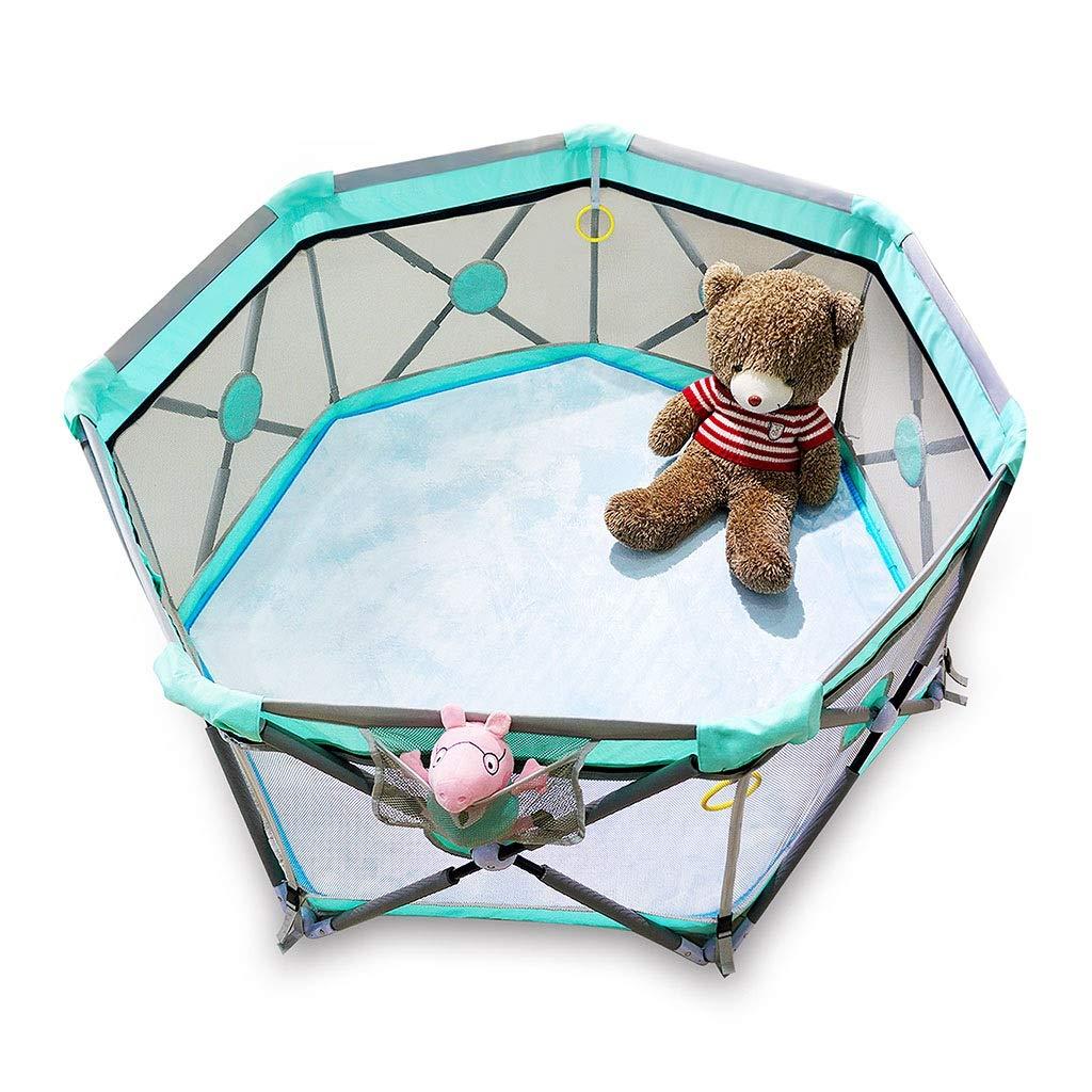 子供用フェンス室内ゲームクロールマットフェンス子供用家庭用幼児用フェンス折りたたみ式セキュリティバー (Color : Blue, Size : 140*140*68cm) 140*140*68cm Blue B07SJFXVBV