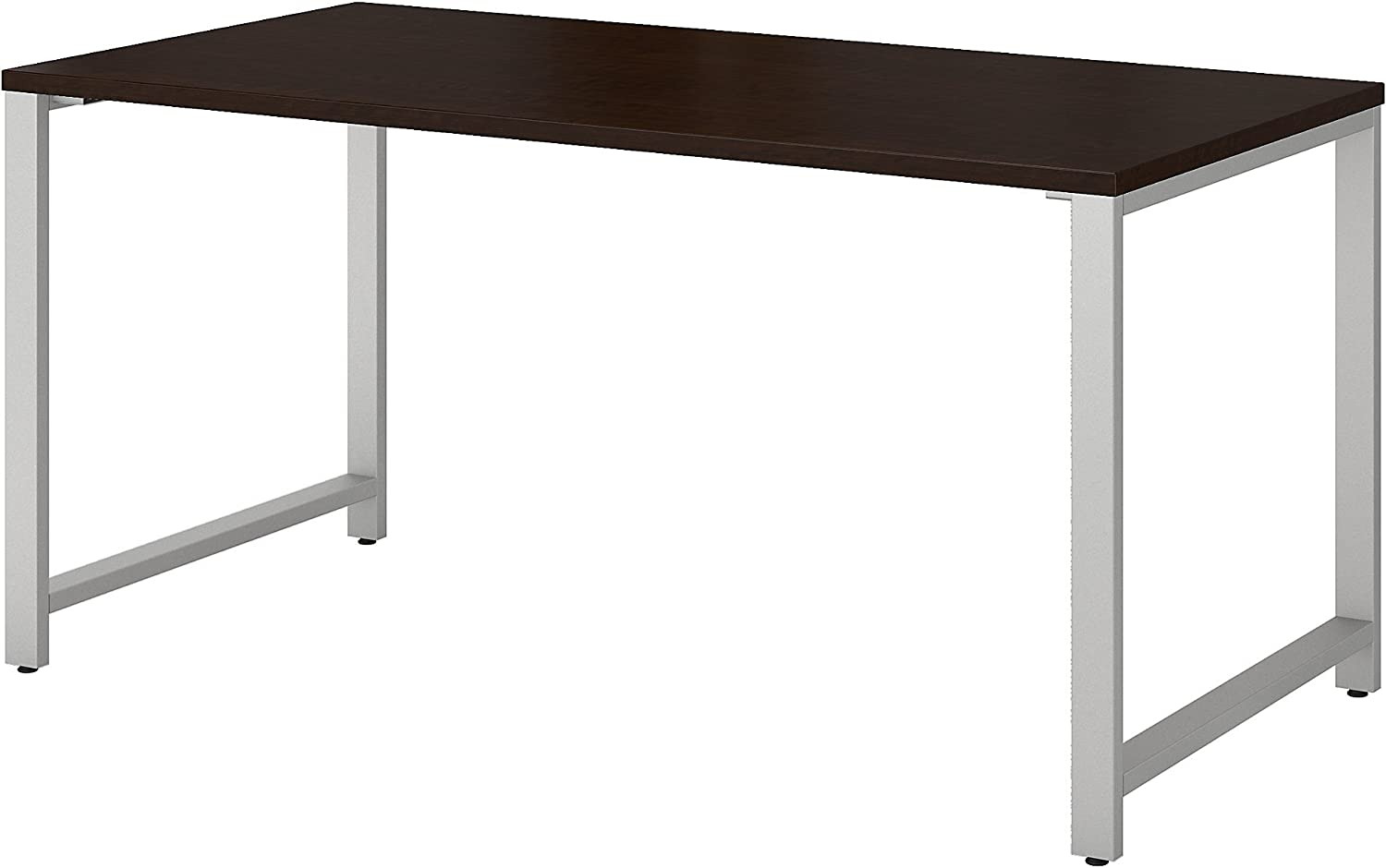 Bush Business Furniture 400 Series Table Desk with Metal Legs, 60W x 30D, Mocha Cherry
