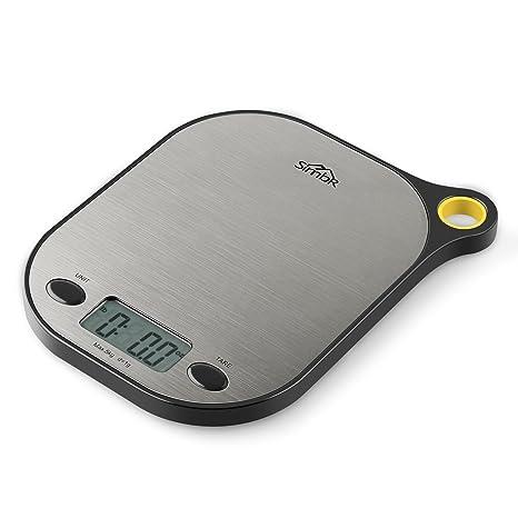 Simbr Báscula Digital indicador de la balanza para Cocina de Alimentos y líquidos con soporte para