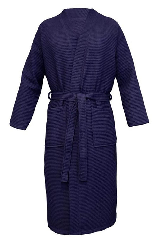 100/% algod/ón piqu/é Talla S Albornoz Unisex para Sauna algod/ón XXXXL Ilkadim Azul Oscuro Large