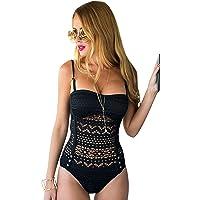 31b7a607f0b LookbookStore Women's Crochet Lace Halter Straps Swimsuits Bathing Suit US  0-16