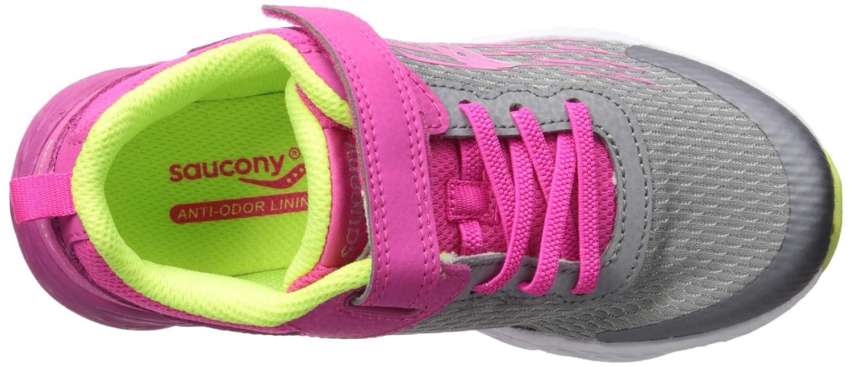 065 Wide US Big Kid Saucony Unisex Wind A//C Sneaker Grey//Pink