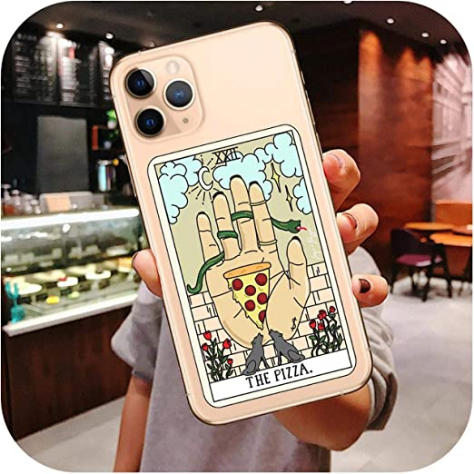 Amazon.com: Aesthetic Art Pizza Coffee Silicone Phone Case for ...