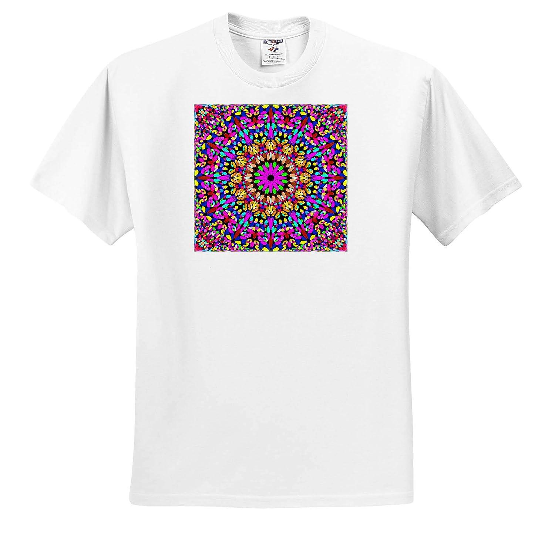 3dRose David Zydd Happy Gravel Mandala Bohemian Kaleidoscope Graphic T-Shirts Floral Mandalas