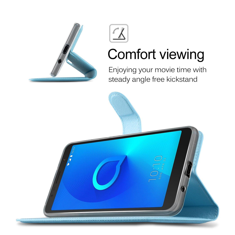 Amazon.com: KuGi Alcatel 3C case, Alcatel 3C Case Premium PU Leather ...