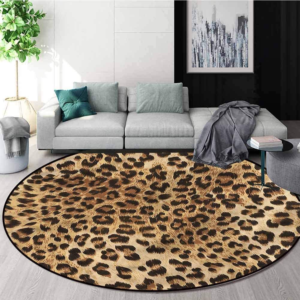 Amazon.com Leopard Print Rug Round Home Decor Area Rugs, Wild ...