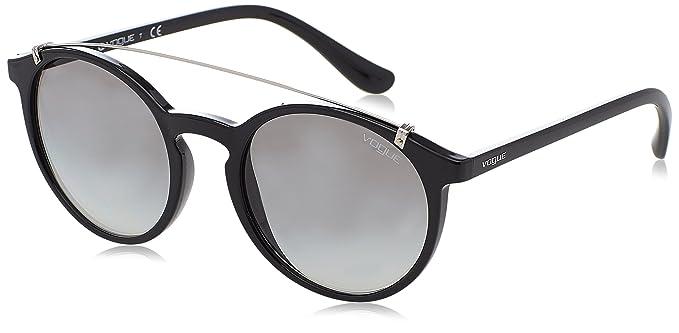 Womens 0VO5136S W44/87 Sunglasses, Black/Grey, 52 Vogue