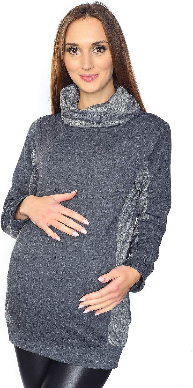 MijaCulture 2 in1 Casual Stillpullover /& Umstandspullover Still Sweatshirt Lucy 7143