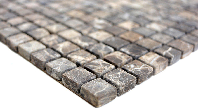 Mosaico marmo pietra naturale beige castanao per piastrelle per