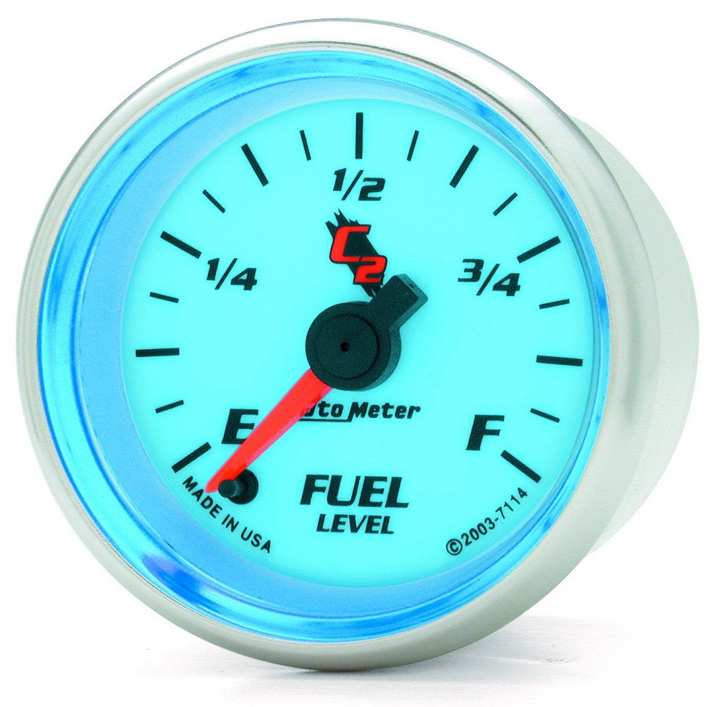 Auto Meter 7114 C2 Full Sweep Electric Programmable Fuel Level Gauge
