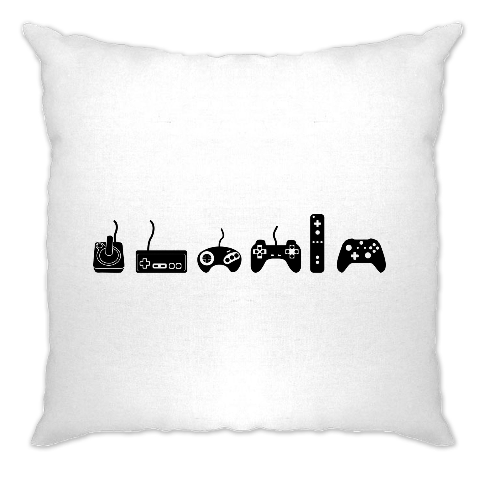 Tim And Ted Gaming Cushion Cover Evolution Of A Video Game Controller White One Size