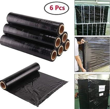Film /étirable pour palette NOIR 450 mm x 270 m/ètres pour palette film pr/é/étir/é emballage manuel noir opaque anti uv lot de 1 rouleau