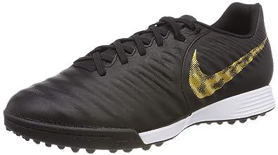 sale retailer b2311 d525f Nike Herren LegendX 7 Academy TF Fußballschuhe Schwarz (Black MTLC Vivid  Gold 077)