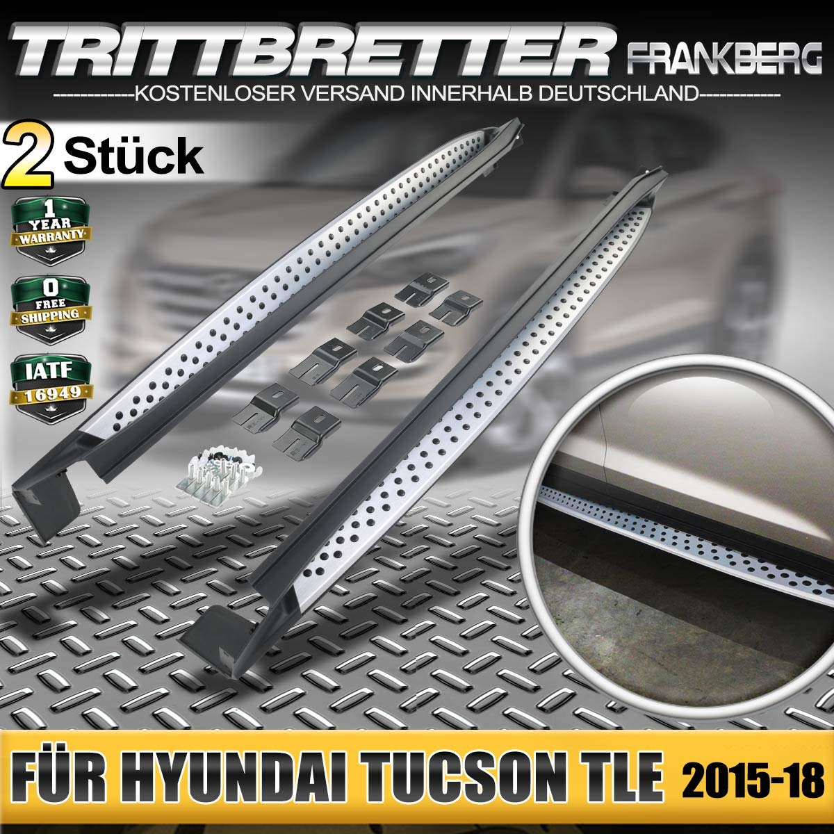 Aluminium Trittbretter Seitenbretter f/ür Tucson TLE TL SUV 2015-2019