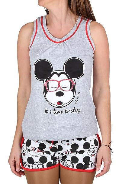 Pijama Tirantes Mujer Disney Mickey, Color Gris Jaspe, Talla Xs