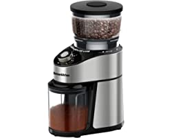 Conical Burr Coffee Grinder, Adjustable Burr Mill Electric Coffee Bean Grinder with 12 Precise Grind Settings for Espresso, D
