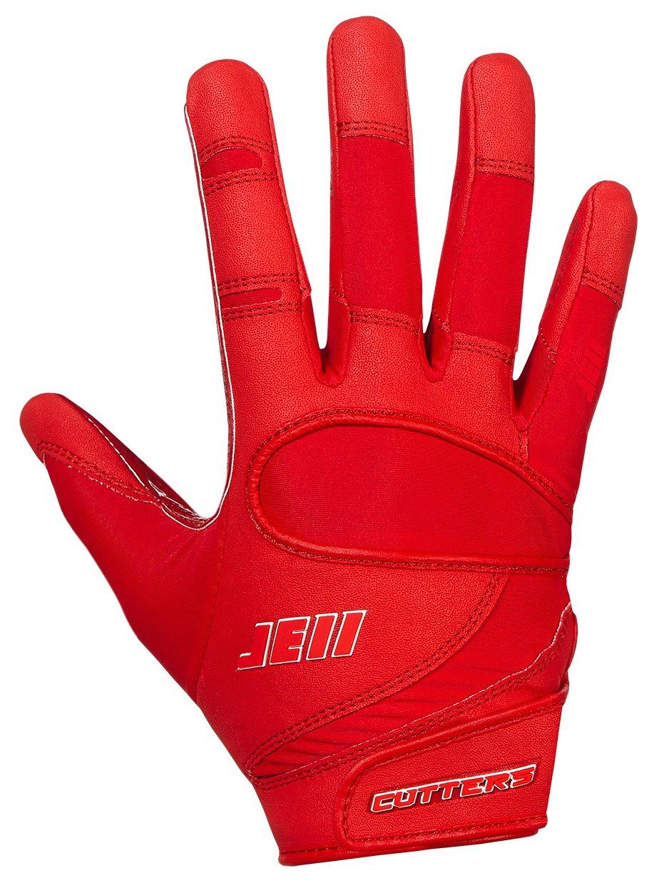 カッターJulian Edelmanフットボールグローブ、Extremeグリップ&受信機子供&大人サイズ手袋、柔軟、快適、耐久性、通気性、1ペア B07BMBGLK1 レッド ADULT: Small ADULT: Small レッド