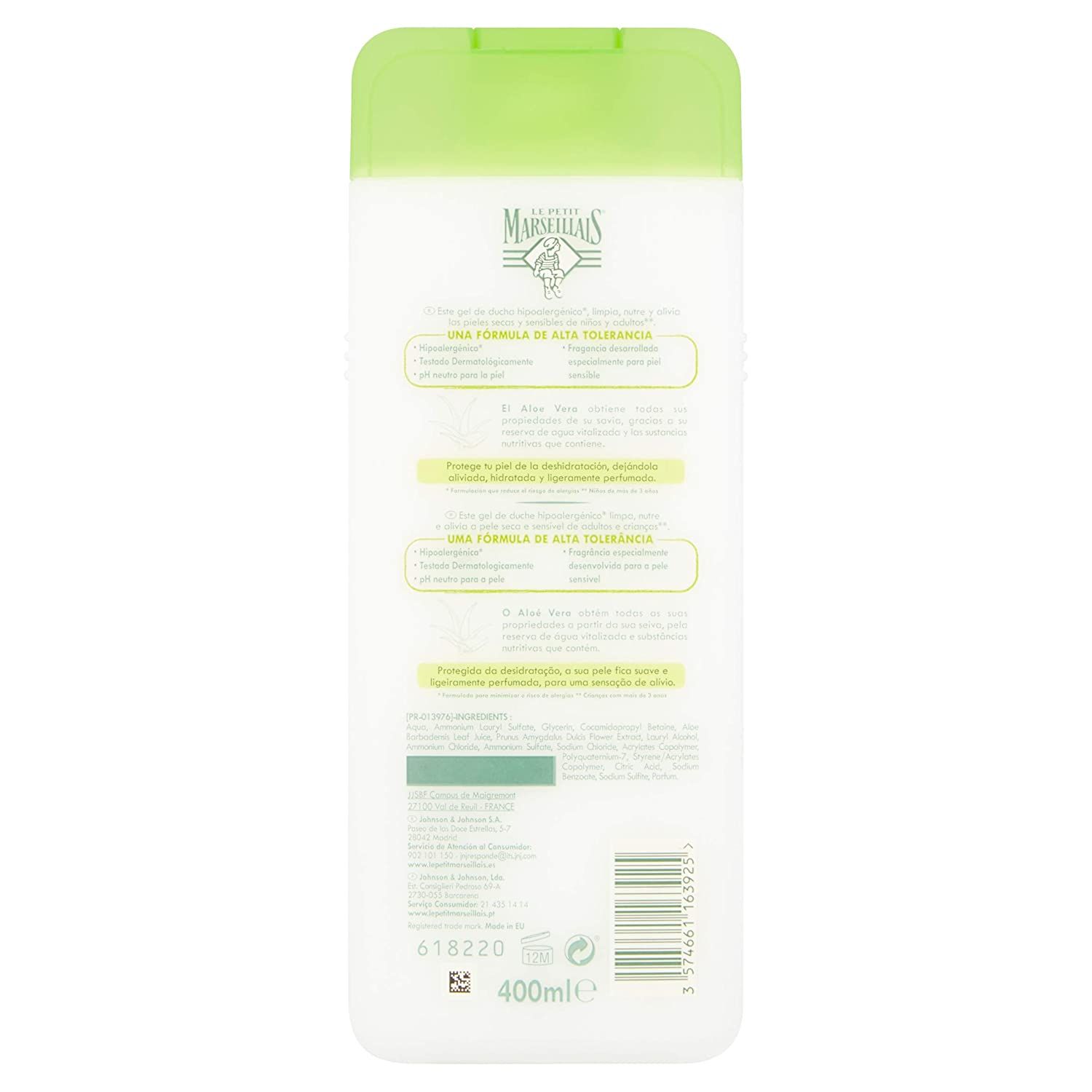 Le Petit Marsellais - Gel Leche de Almendras Dulces, 400 ml: Amazon.es: Belleza