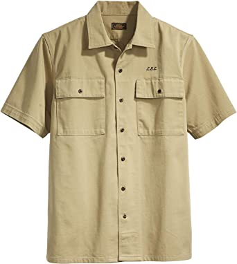 Levis Skate SS Button Down Harvest Gold Camisa Manga Corta Hombre Caqui XL (X-Large): Amazon.es: Ropa y accesorios