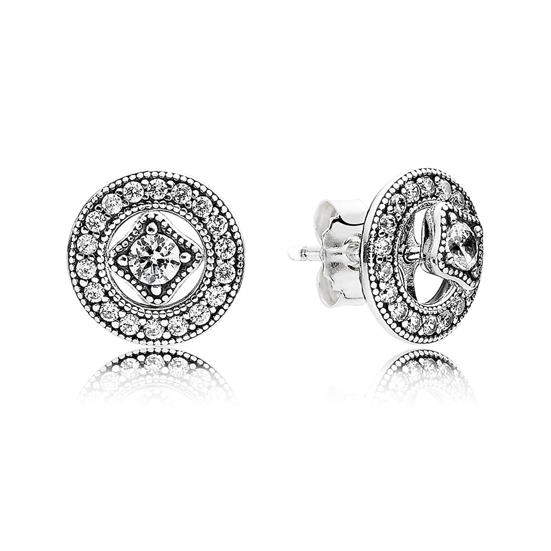 Amazon Pandora Women s Vintage Allure Stud Earrings