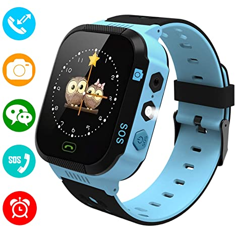 YENISEY Kids Smartwatch Phone for Girls Boys - Children Touch Phone Wrist Watch with SOS Call Voice Intercom Camera Flashlight Voice Maths Game for ...