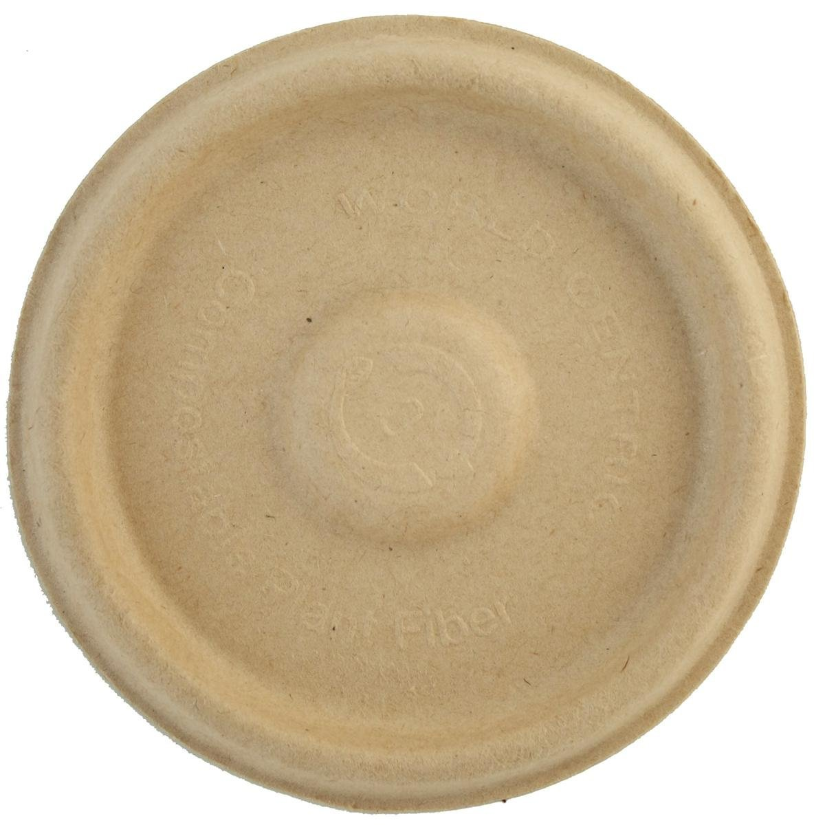 World Centric Unbleached Plant Fiber Souffle Lid for 2 Ounce Cup - 2000 per case. by World Centric