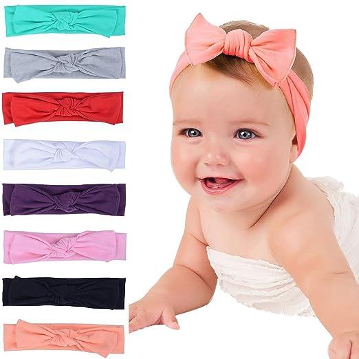 Amazon.com  Baby Headbands Turban Knotted 2d7ab5c1e9c