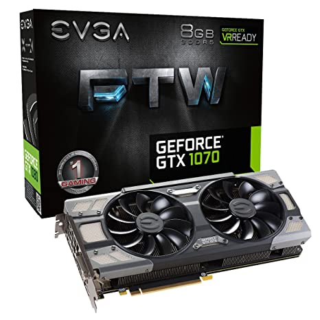 EVGA GeForce GTX 1070 FTW GAMING ACX 3 0, 8GB GDDR5, RGB LED, 10CM FAN, 10  Power Phases, Double BIOS, DX12 OSD Support (PXOC) Graphics Card