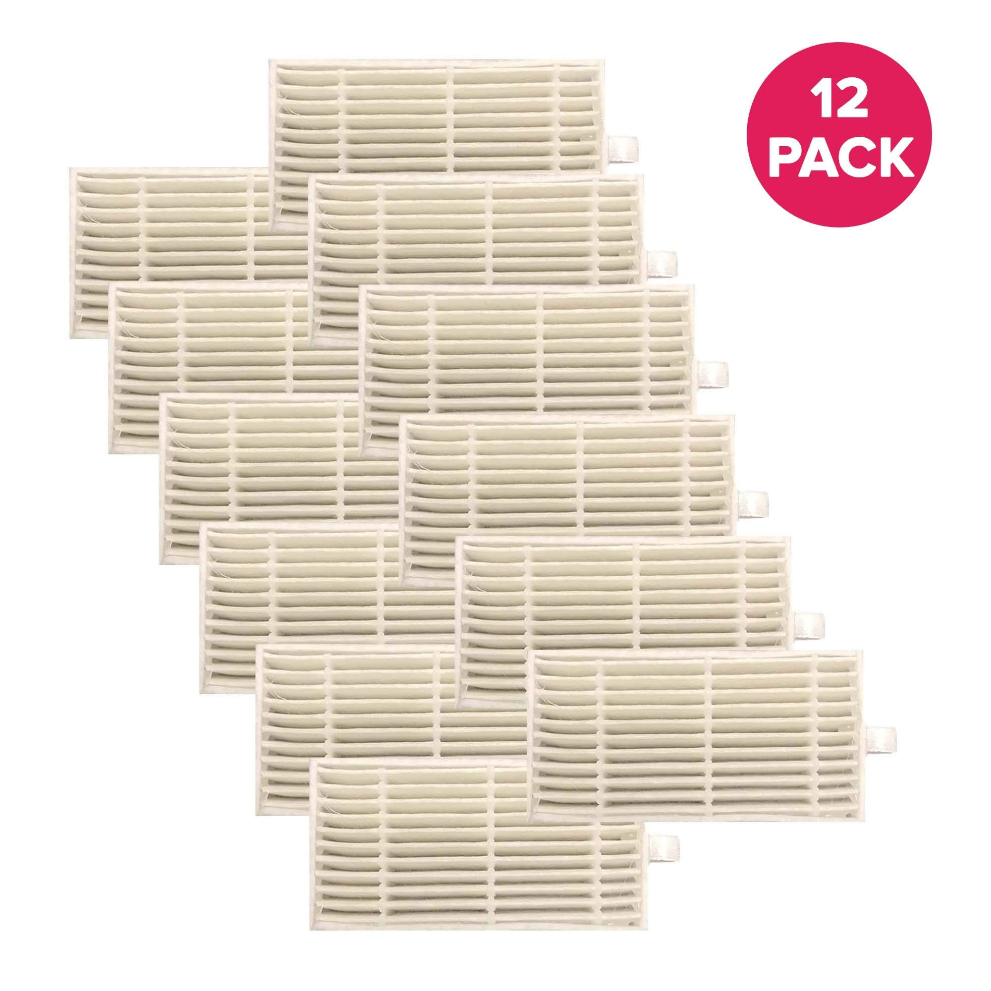 Think Crucial 2 Replacements for iLife Filters, Compatible with V3s, V3s Pro, V5, V5s & V5s Pro Robot Vacuum Cleaners (12 Pack) by Think Crucial
