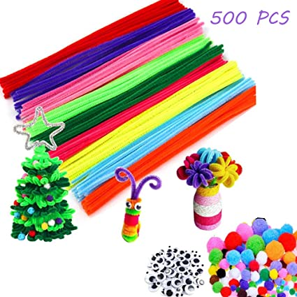 962ddd4fa Amazon.com: Pipe Cleaners Craft for Kids Toddlers DIY Craft Set ...